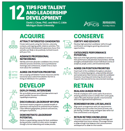 12 Tips for Talent and Leadership Development