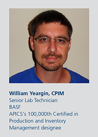 APICS magazine managing editor Elizabeth Rennie recently spoke with Richard Artes, CPIM, the very first APICS CPIM designee; and William Yeargin, CPIM, who received the 100,000th certification just a few months ago.