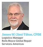 APICS magazine managing editor Elizabeth Rennie speaks with Peter H. Clonts, CPIM, and James W. (Jim) Tilton, CPIM, of Rolls-Royce Global Repair Services to learn more about their company's reverse logistics and sustainability practices.