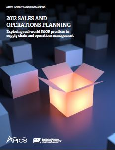 2012 Sales and Operations Planning