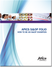 Bring sales and operations planning (S&OP) best practices to your organization. Predicting the future generally is thought impossible; yet, S&OP users seek to do just that by strategically directing businesses to achieve competitive advantage. Purchase this APICS folio to understand how you can enable your organization's bottom-line effectiveness with S&OP.