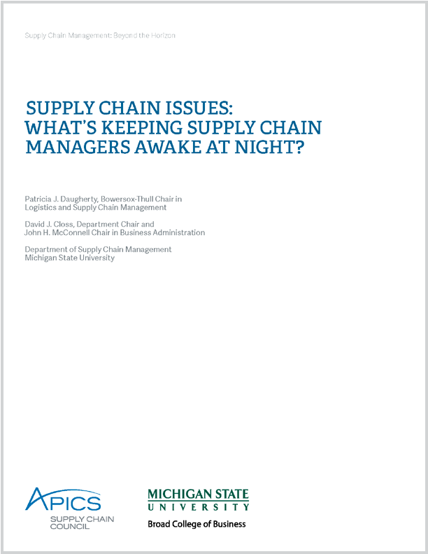 supply chain management white paper Supply chain management pdf white papers from seldat technology services provide information, guidance, insights, and ingredients on modern supply chain best practices.