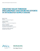 Creating Value through Procurement and Sourcing Efforts in Integrated Supply Chains