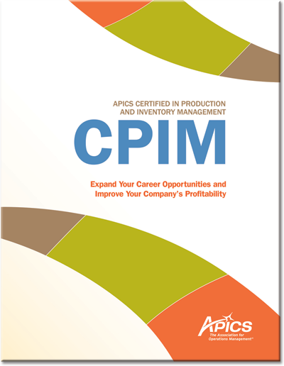 cpim certified in production and inventory