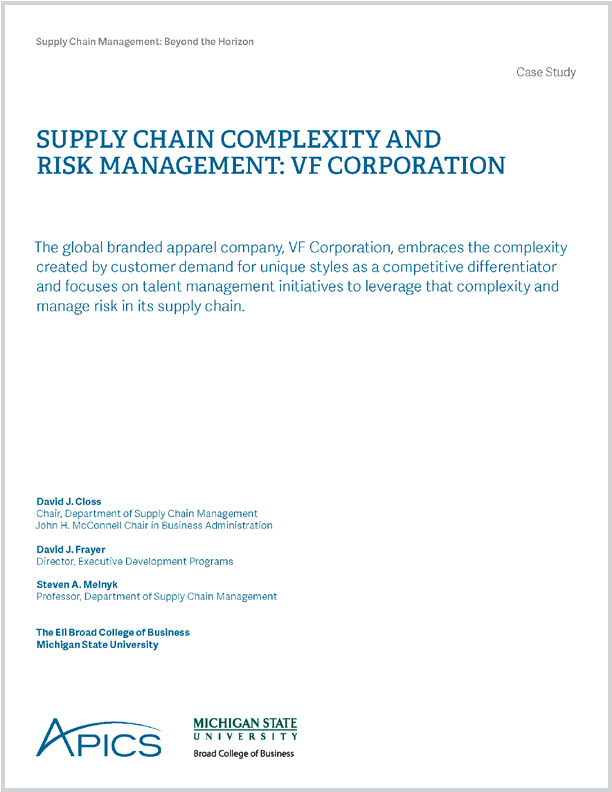 SUPPLY CHAIN COMPLEXITY AND RISK MANAGEMENT: VF CORPORATION